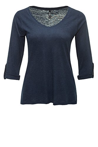 Hailys Damen Langarmshirt Longsleeve T-Shirt Navy