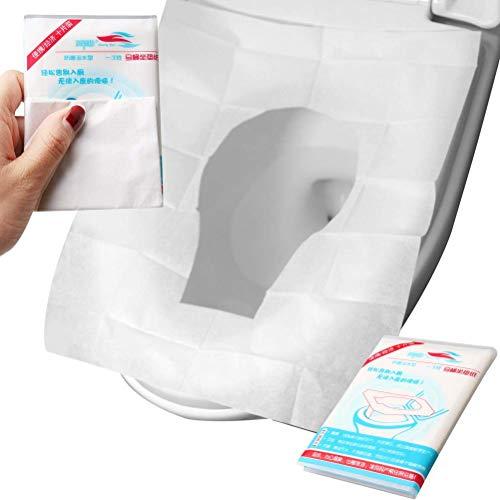 TBKK Copriwater USA e Getta di Carta igienica 50 Confezioni Extra Large Antiscivolo da Viaggio confezionate singolarmente Impermeabile Portatile per