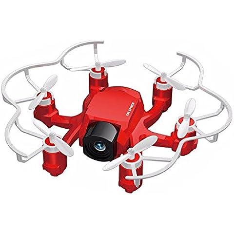 Unipro Tek FQ777-126C araña RC Quadcopter Mini Drone cámara HD 3d rollo una clave para volver Modo Dual 4 ch 6 axis gyro rc Hexacopter con un Makibes lector de tarjetas rojo
