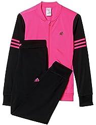 adidas YG TS PES - Chándal para niña, color rosa / negro, talla 170
