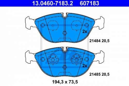 ATE 13.0460-7183.2 - Pastiglie freno a disco