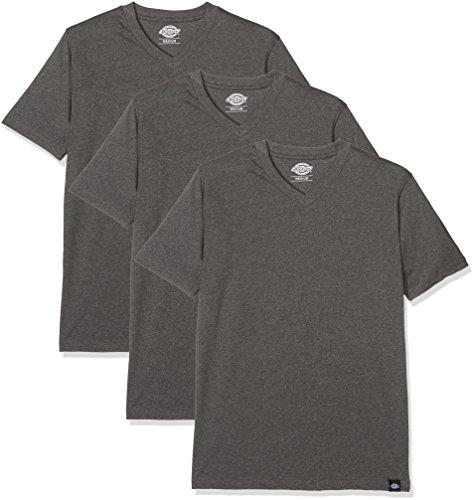 rmshirt T-Shirt 3er Pack V Neck T-Shirt Pk grau (Drk Grey Mel) X-Small ()