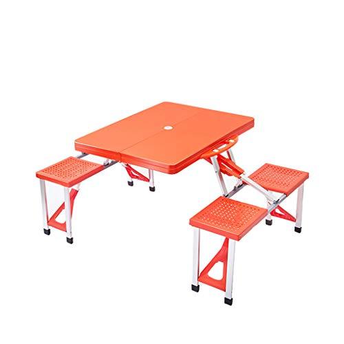 MSF Table Pliante Table et Chaise Se Pliante portatives conjuguées par Alliage d'aluminium extérieur et Table 1 du Tabouret 4