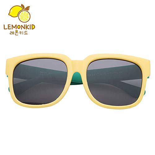 YRE Kinder-Sonnenbrillen Mode Persönlichkeit Harz Baby Sonnenbrille, weiches Rahmen polarisierten Kinder-Schattenspiegel, Yellow