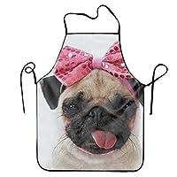 ERCGY 2019 Apron Pug Princess Adjustable Apron for Kitchen Garden Cooking Grilling