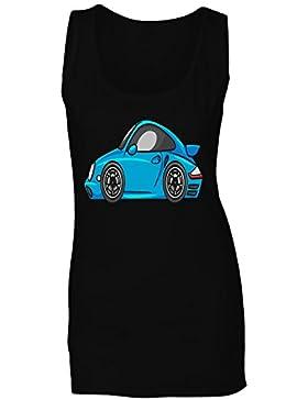 Novedad del coche de deportes de la historieta camiseta sin mangas mujer a690ft