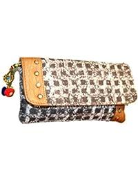 Tanish Enterprises Women's Brown Cotton Leather Sling Bag TE03
