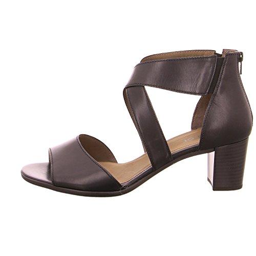 Gabor Fashion scarpe da donna 45.882Donna Zeppa sandali Nero