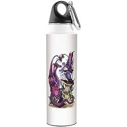 vb47585Amy marrón Fantasía Artful Traveler inoxidable botella de agua, 500ml, la con hada y dragón