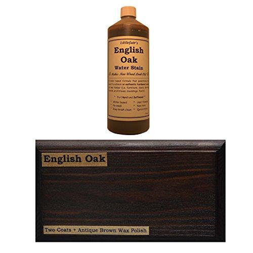 Littlefairs umweltfreundliche wasserbasierte Holzlasur und Farbe - Traditionelles Sortiment (500ml, englische Eiche) -