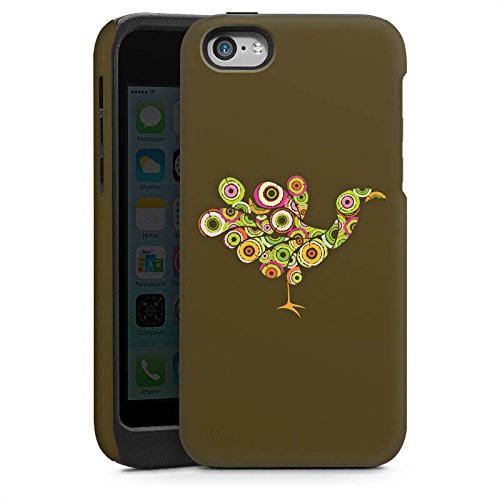 Apple iPhone 4 Housse Étui Silicone Coque Protection Paon Oiseau couleurs Cas Tough brillant