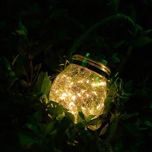 Qomolo Solar Laterne im Einmachglas Jar Led Lichterkette Solar Außen LED Solar Mason Licht Fee Gartenlicht Solar für Garten Party Balkon Weihnachtsferien Urlaub Hochzeit