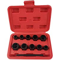Xincsiwang (11-teilig) Juego de llaves de vaso Radmutter Schraubensicherung Entferner Schraube Extraktor Werkzeuge