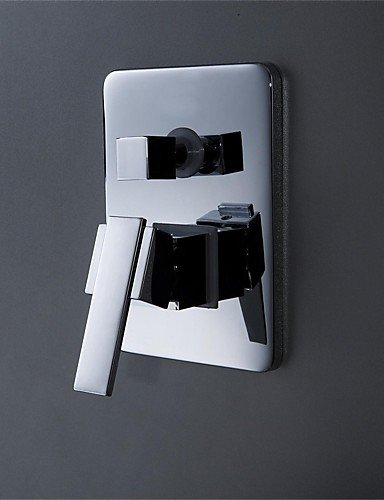 JinRou Stilvolle Badezimmer Wasserhahn UP-Brausedoppelfunktion Ventil Wassermischung , silver