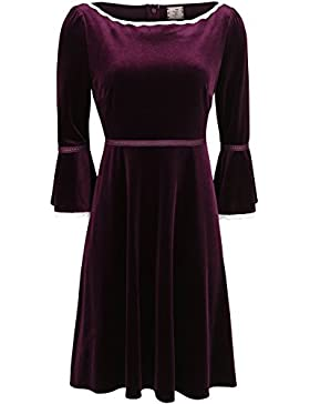 Dancing Days Montana Dress Abito bordeaux XS