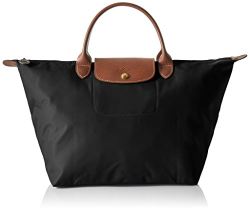 Longchamp - Le Pliage Medium, Borsa a mano Donna Nero