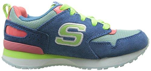 Skechers Retrospect Retro Racer, Baskets Basses Fille Bleu