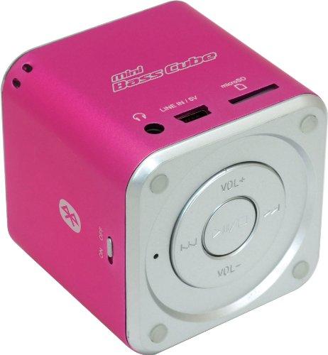 Jaytech 77002422 Bluetooth Mini Bass Cube aktiv-Lautsprecher (1 Stück, 3,5mm Klinke, 3 Watt, USB) Cube Mp3