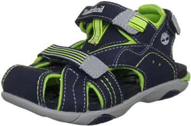 Timberland Dune Buggy 2 Strap, Boys' Sandals, Navy/Green, 3.5 UK Child