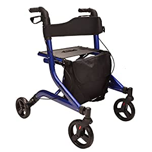 EC X FOLD Lightweight folding rollator walking frame with seat and bag - choice of colours