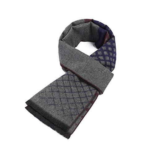 Relddd Herren schals Winter-New Herren Business Nachahmung Kaschmir warme Farbe Block Schal Premium Geschenk 180x30cm -