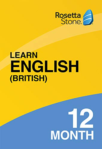 Rosetta Stone: Learn English (British) for 12 months on iOS, Android, PC, and Mac|Personal|1 User, multiple devices|12 Months|PC/Mac/Smartphone|Download|Download (Rosetta Stone Pc)