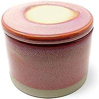 Dekorative Handgearbeitete Vorratsdose Aufbewahrungsdose Dose Rosa aus Keramik mit Deckel im Shabby Chic Stil
