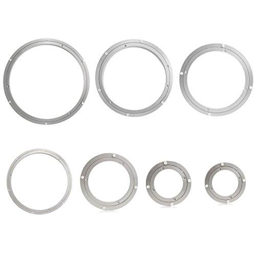 Speedmar UK Mode Wohnkultur Kreisförmige Drehscheibe, die Hochleistungsaluminium drehende Lager-Drehscheibe-Drehscheibe-Rundplatte-Geschirr Drehwirbel-Drehscheibe trägt (Farbe : 18 In)