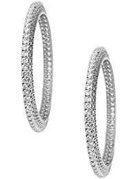 Jewel99 Sterling Silver Swarovski Zirconia Women Bangle (Pack Of 2)