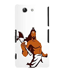 FUSON Parshu Ram Graphic Painting 3D Hard Polycarbonate Designer Back Case Cover for Sony Xperia Z4 Compact :: Sony Xperia Z4 Mini