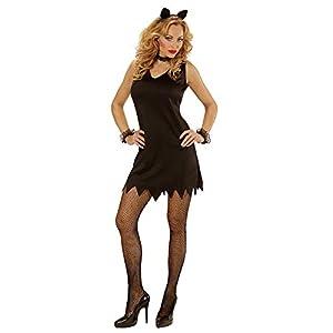 WIDMANN- Disfraz Gato Vestido, Collar, Manguito y Orejas, Color Negro, S (00021)