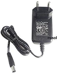 MISOL EU plug 5V 2A 100-240v Power adapter AC-DC 5.5*2.1*10mm, CE, RoHS