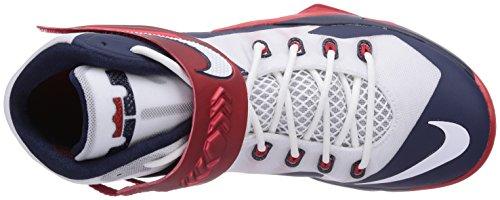 Nike Herren Zoom Soldier Viii Lebron James Basketballschuhe Weiß (WHITE/WHITE-OBSDN-UNVRSTY RD)