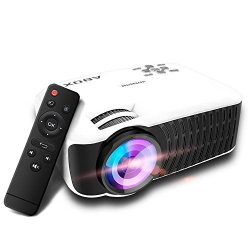 GooBang Doo ABOX T22 2000 Lumens Vidéoprojecteur LED Portable Projecteur LCD Théâtre Domestique Multimédia avec Entrée HDMI / USB / SD / VGA / AV pour TV, Xbox, Ordinateur Portable, Jeux, iPhone, iPad et Smartphone (Cordon HDMI Offre)