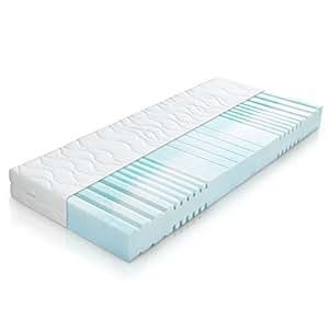 belvandeo i orthop dische kaltschaummatratze mit 7 zonen 140x200 cm i h3 80 bis. Black Bedroom Furniture Sets. Home Design Ideas