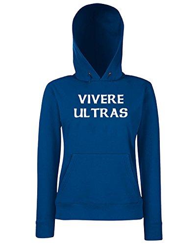 T-Shirtshock - Sweats a capuche Femme TUM0179 vivere ultras Bleu Navy
