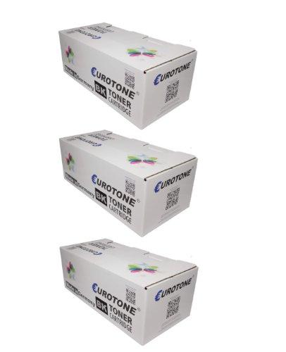 Preisvergleich Produktbild 3x Eurotone High Quality Toner Cartridge für Kyocera FS 2100 D / DN - ersetzen TK-3100 / 1T02MS0NL0 Patronen - kompatible XXL Premium Alternative - non oem