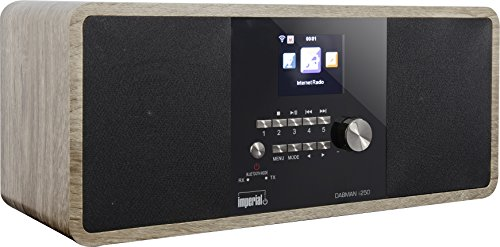Imperial 22-283-00 Dabman i250 Internet-/DAB+ Radio (Stereo Sound,Bluetooth,Internet/DAB+/DAB/UKW,WLAN,LAN,USB,Aux In,Line-Out,Kopfhörer Ausgang,inkl. Netzteil) Vintage-schwarz - Internet-kopfhörer