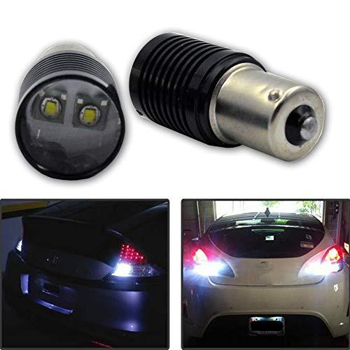 Ruiandsion Lot de 2 ampoules LED BAU15S super lumineuses Blanc AC 12-24 V CREE 2SMD 10 W LED de recul, feux de recul, clignotants, feux arrière, ampoule