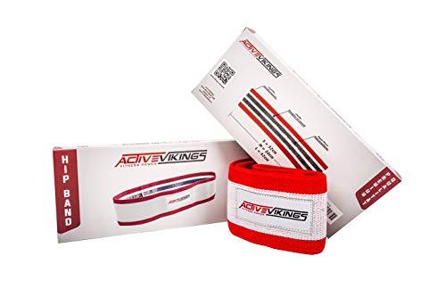 ActiveVikings HIP Band Fitnessbänder | Ideal für Muskelaufbau Physiotherapie Pilates Yoga Gymnastik und Crossfit | Fitnessband Gymnastikband Widerstandsbänder (S - 32cm)