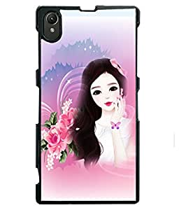 PRINTVISA Angel with Butterfly Premium Metallic Insert Back Case Cover for Sony Xperia Z1 - D5837