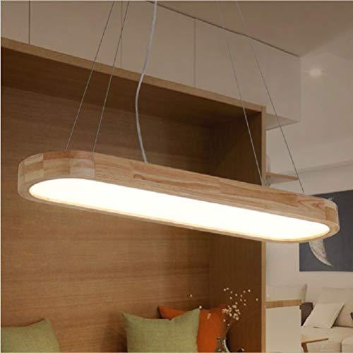 Log Bin (Bin Bin LED-Log-Leuchte Abgerundet Langen Kronleuchter,Natural,V316/120 * 26Cm)