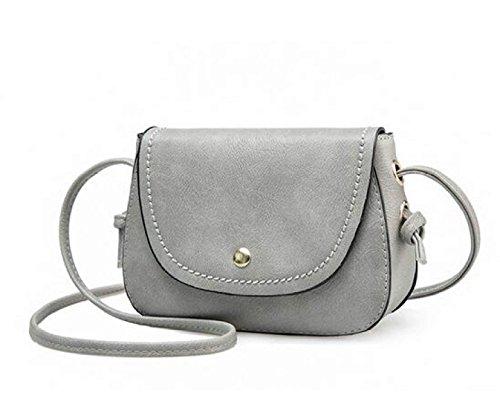 DFUCF Damen PU Büro Umhängetasche Beruf Kuriertasche Handtasche Mode Lässig Robust Party Aktivität Gray