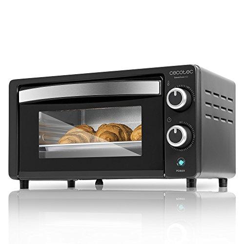 Cecotec Bake&Toast 450 Horno Eléctrico de Sobremesa, 1000 W, 10 litros, Negro