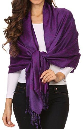 Designer Inspirierte Plaid (Sakka Soft Pashmina Feel Paisley Design Schal / Stola - Licht violett)