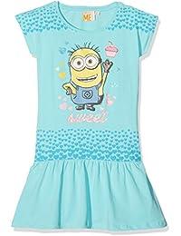 les minions 795-Bleu, Vestido para Niños, Turquesa