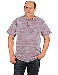 d7c594ccb0eab Xmex Plus Size Mens Henley Neck Single Pocket T-Shirts