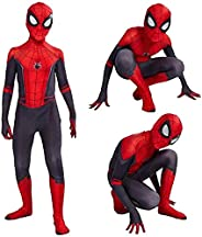 Unisex Lycra Spandex Spider Costumes 3D Breathable Cosplay Spiderman/Iron spiderman Jumpsuits for Halloween, C