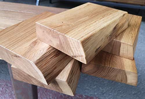 BestLoft.de Waschtisch Muster aus (40 mm) Edler Eiche mit Baumkante - Massivholz