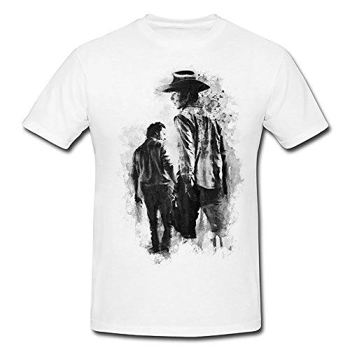 The Walking Dead T-Shirt Mädchen Frauen, weiß mit Aufdruck (Sleeve Dead T-shirt Short)